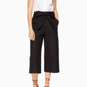 Kate Spade Black Slub Cotton Culotte Pants 2